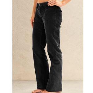 Athleta Dipper Corduroy Black Pant Size 6